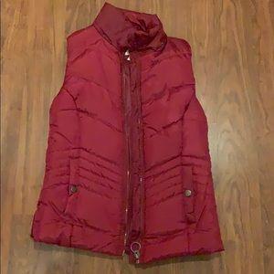 Dark red vest